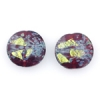 Lamp Bead Coin Large 2Pc 25.5x2.5mm Blue Mystery